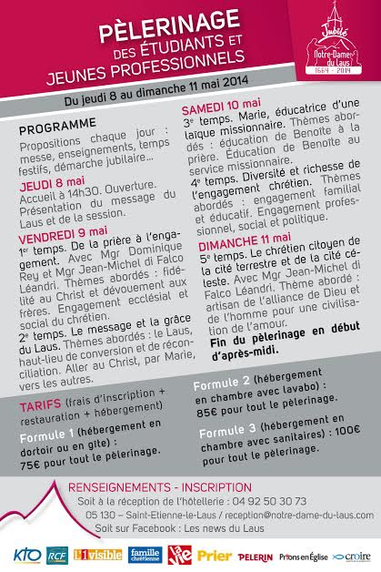 Verso Tract ND du Laus